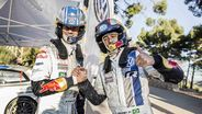 Neymar Rides With Rally Champ Ogier