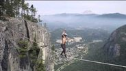 Death-defying slackline world record