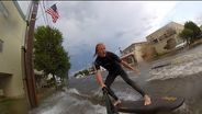 Surfing in the streets of New Jersey