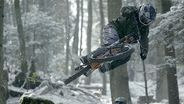 Shredding in the snow on two wheels