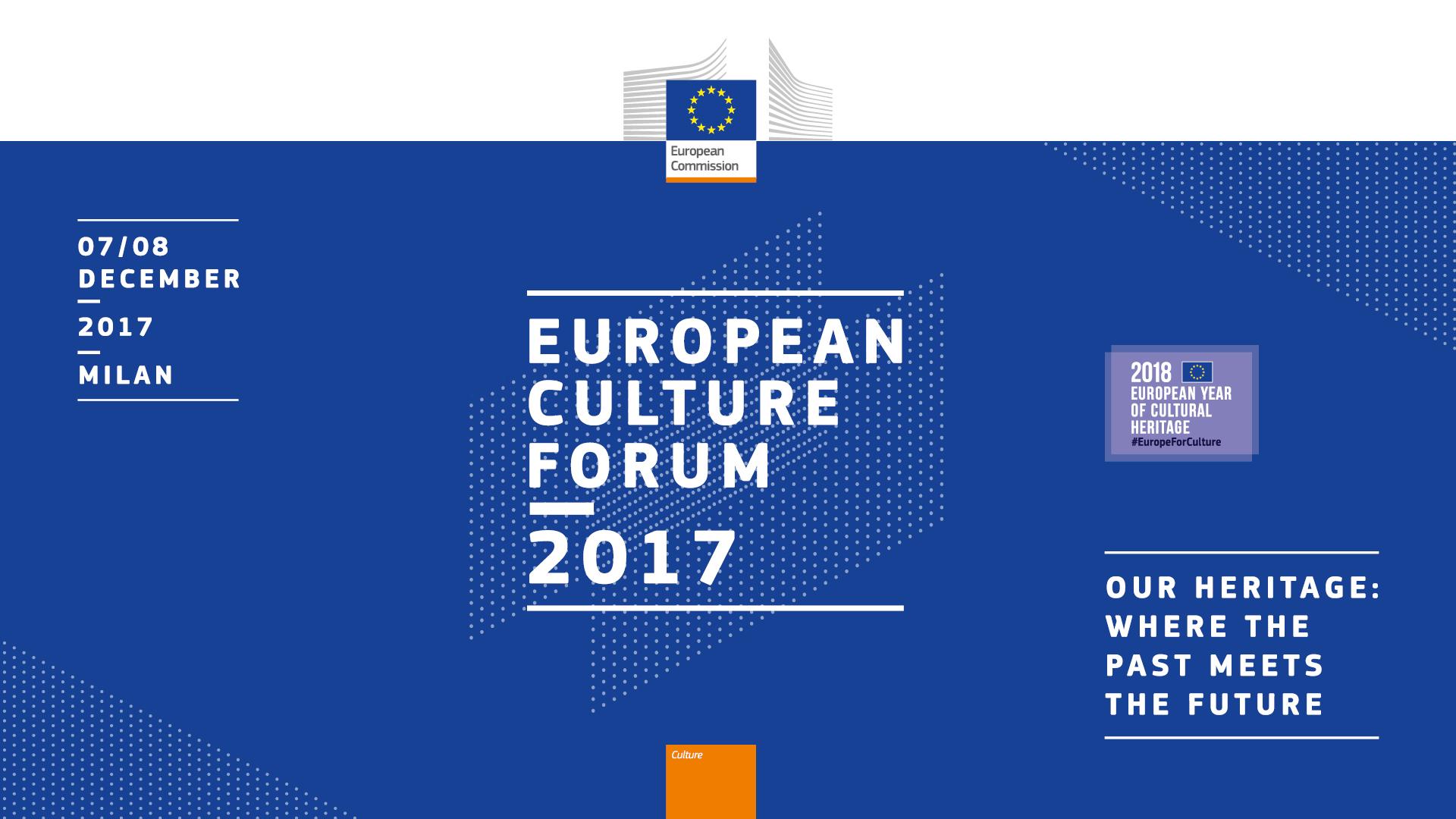 Cultural Activity Matters >> European Culture Forum 2017 Culture