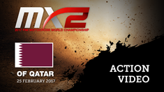 2017 MXGP of Qatar MX2 Race 2 Lieber, Paturel & Kjer Olsen Battle