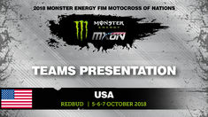 TEAMS PRESENTATION to the Crowd - Monster Energy FIM Motocross of Nations 2018