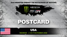 Postcard Monster Energy FIM MXoN RedBud, USA 2018